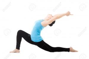 36160583-Sporty-yogi-girl-doing-exercises-asana-Anjaneyasana-Low-Lunge-Yoga-Pose-isolated-on-white-background-Stock-Photo